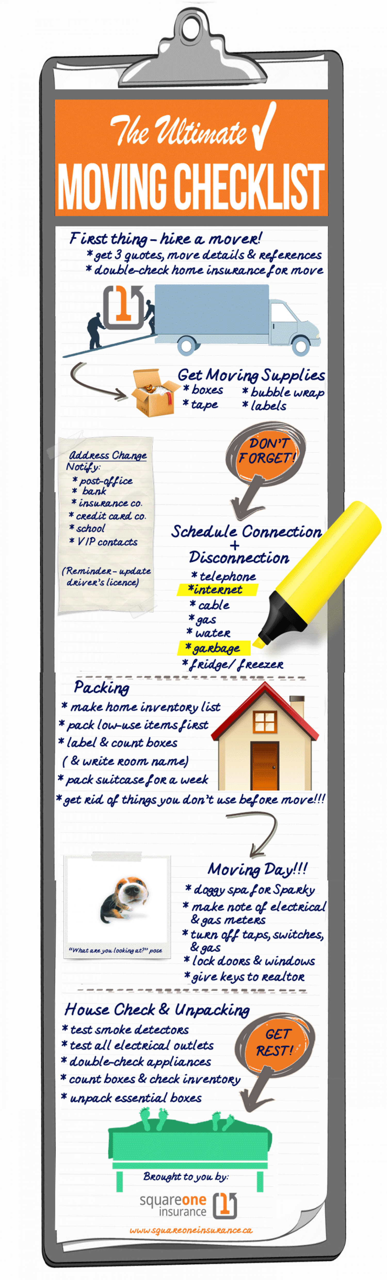 The Ultimate Moving Checklist Infographic
