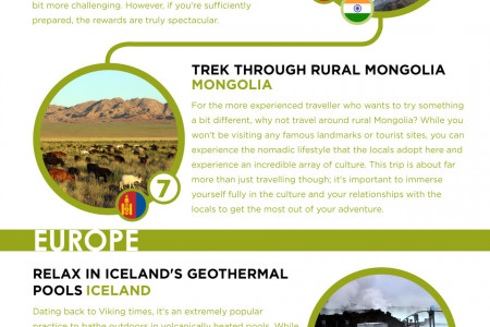 The Ultimate Natural World Bucket List Infographic