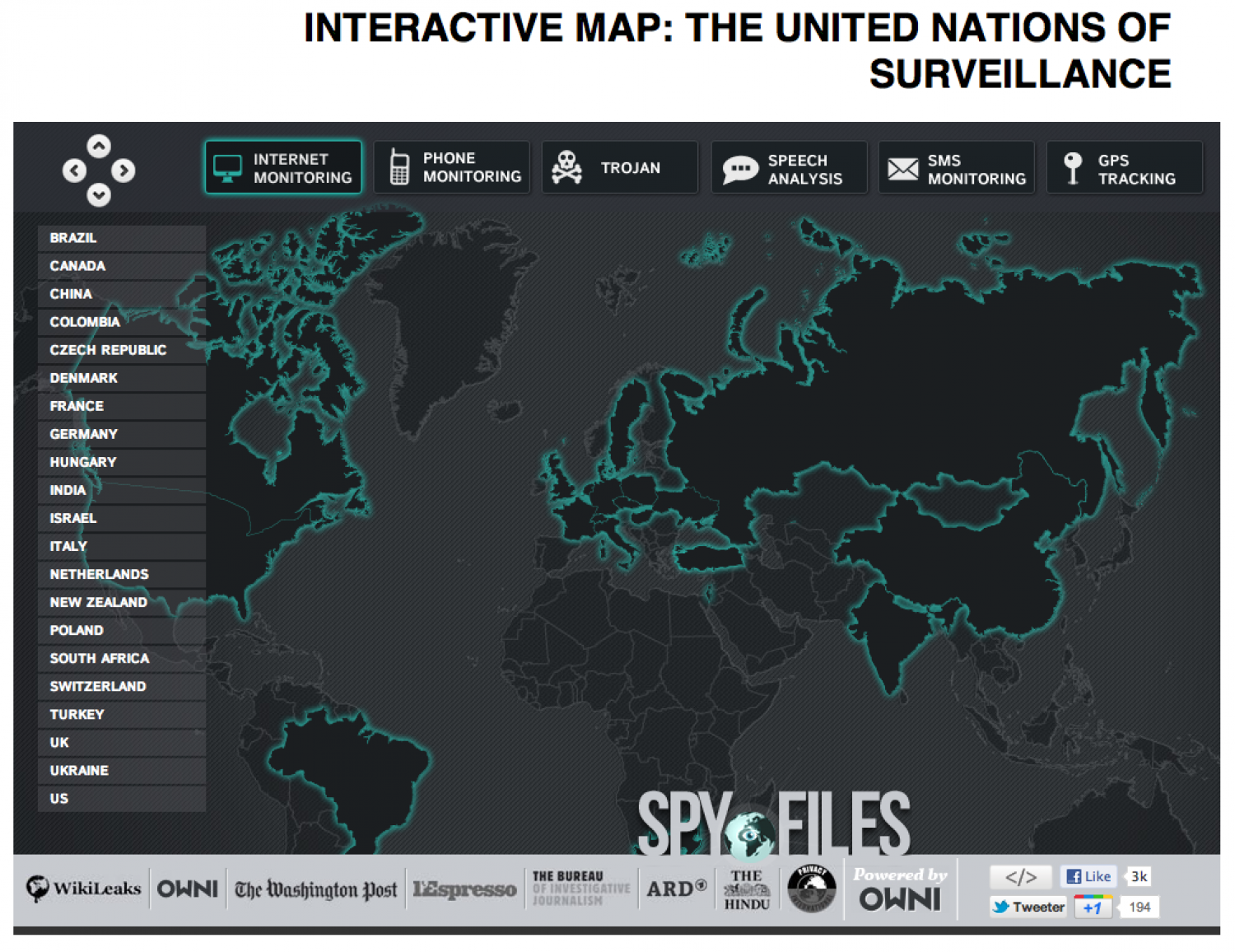 The United Nations of Surveillance Infographic