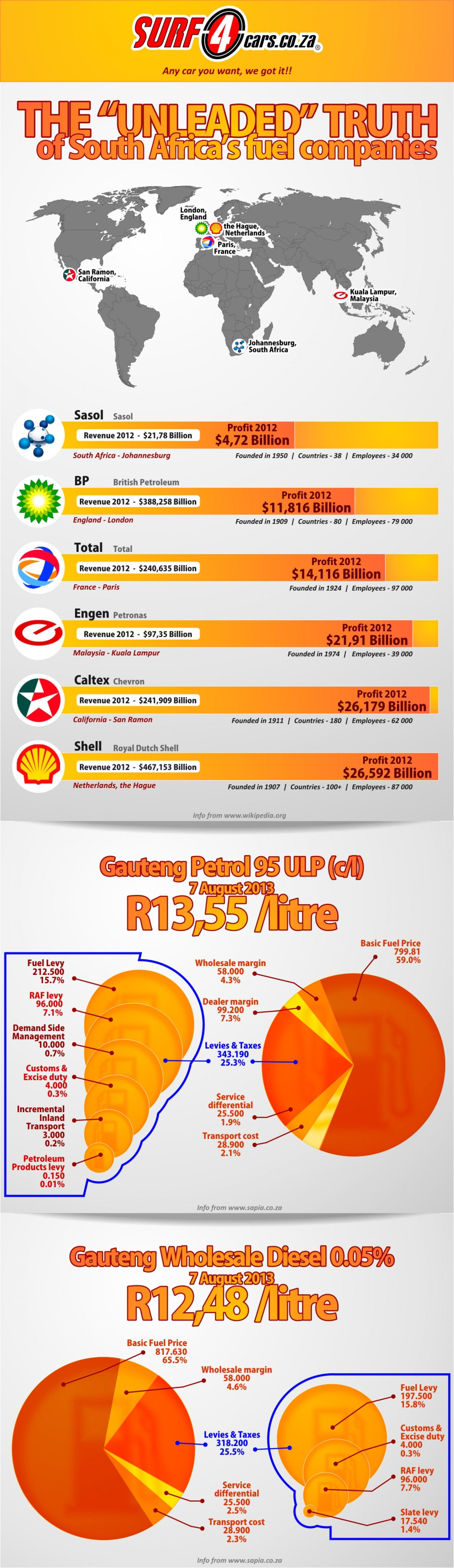 "The ""Unleaded"" Truth About South Africa's Fuel Companies Infographic"