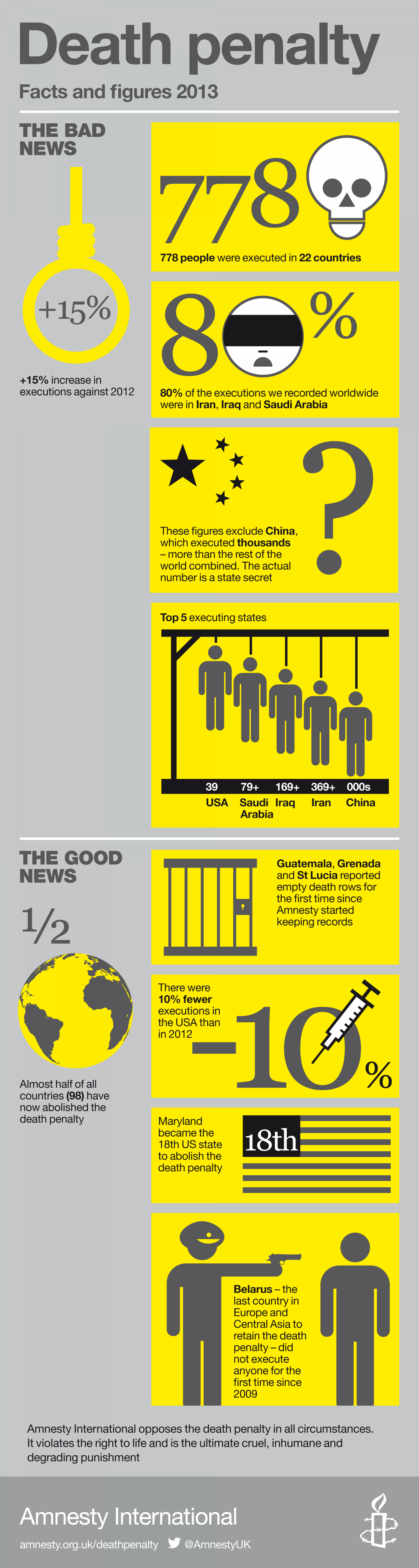 Death Penalty in 2013 Infographic