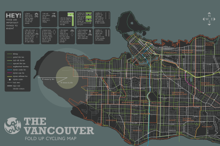The Vancouver Cycling Map Infographic