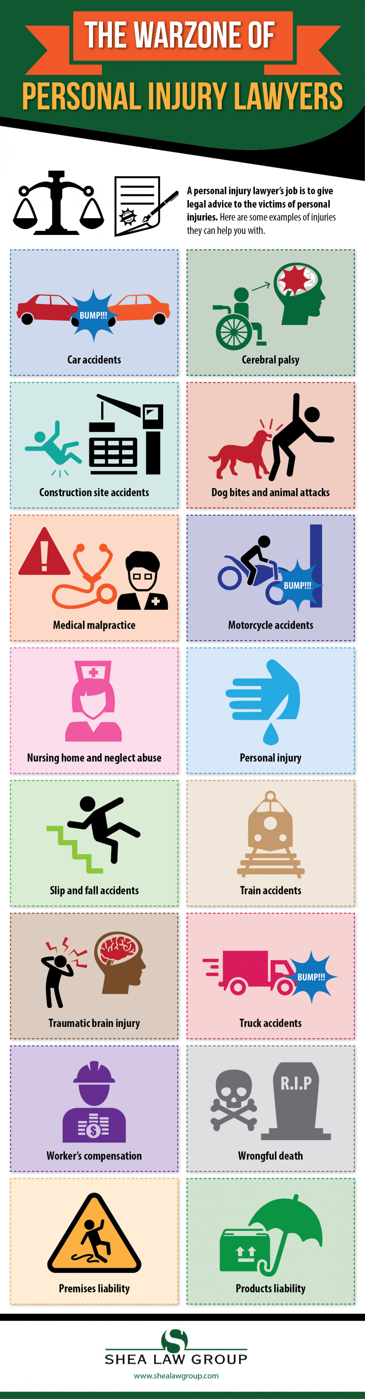 The Warzone Of Personal Injury Lawyers Infographic
