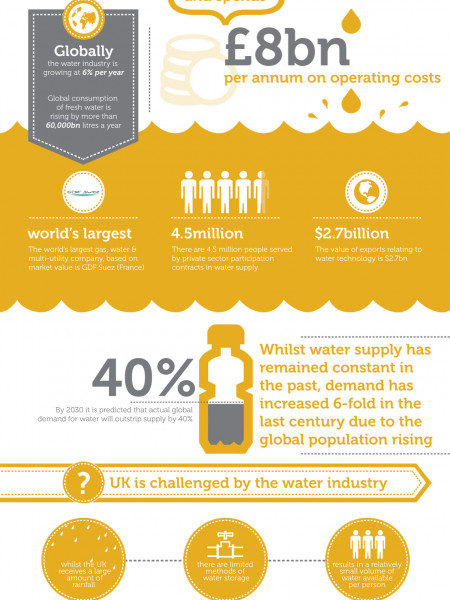 Water Consumption Infographics
