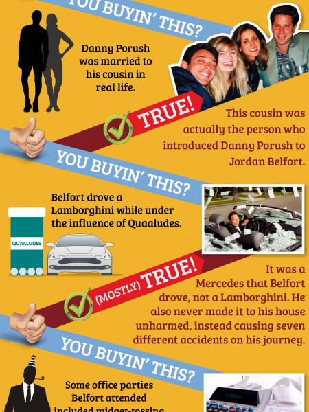 The Wolf of Wall Street: The (Mostly) True Story Infographic