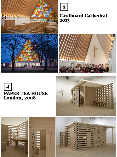 The Works of Shigeru Ban Infographic