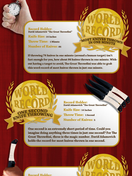 The World Records of Throwing Knives Infographic