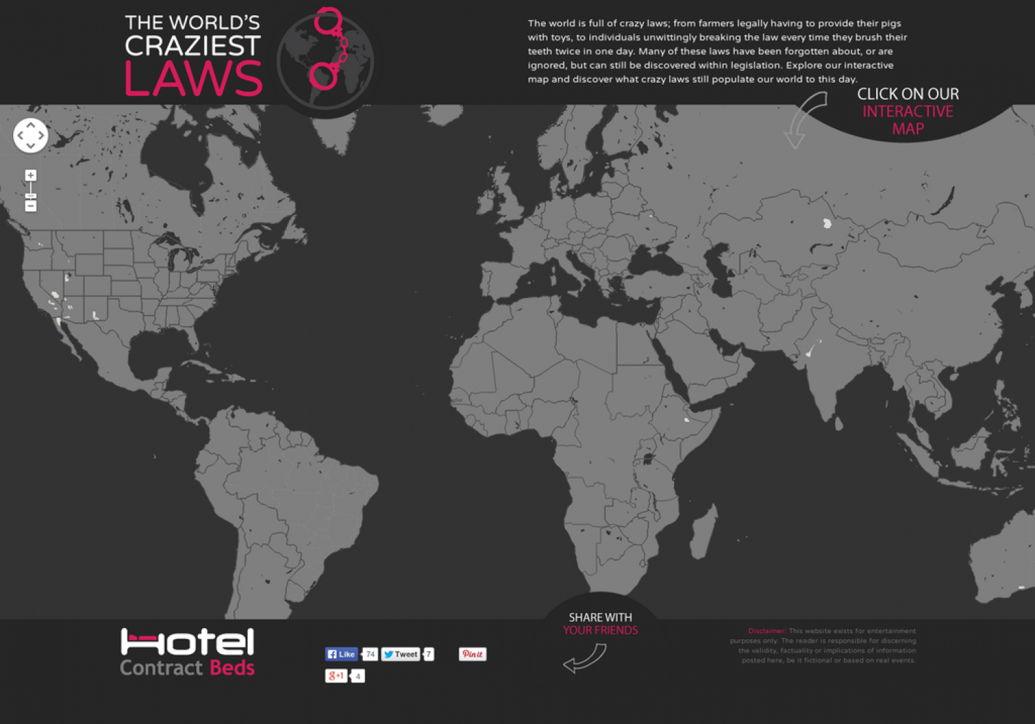 The World's Craziest Laws - An Interactive Map Infographic