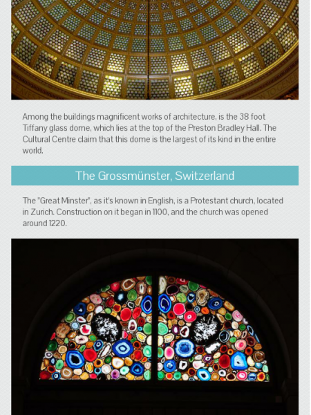 The Worlds Most Famous Stained Glass Windows Infographic