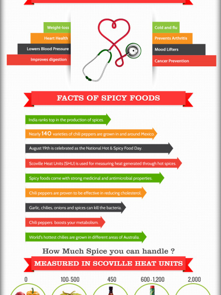 World's 10 best spicy foods Infographic