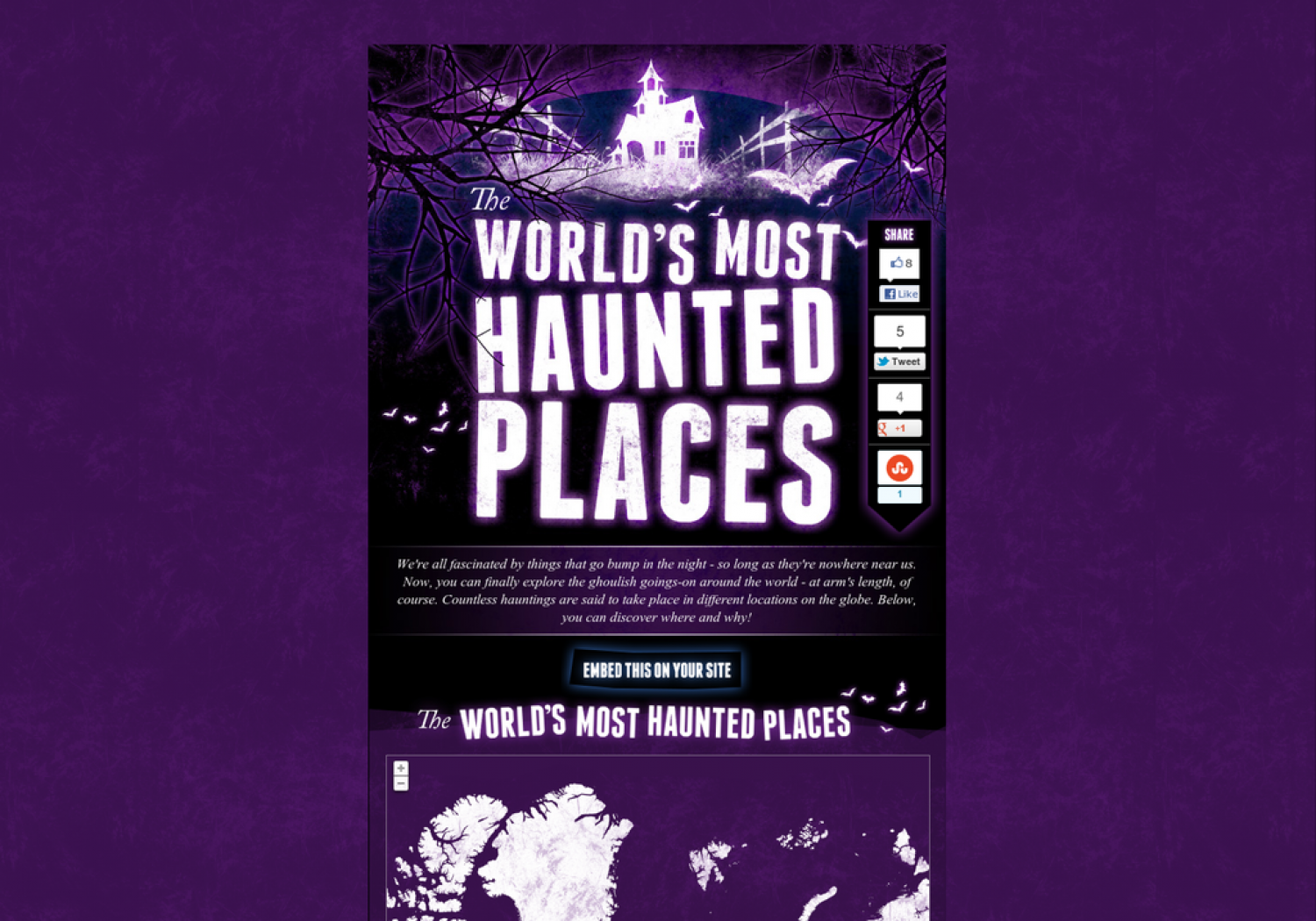 The World's Most Haunted Places Infographic