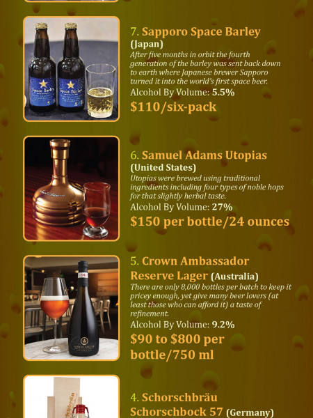 The Top 10 Most Expensive Beer in the World for 2014! Infographic