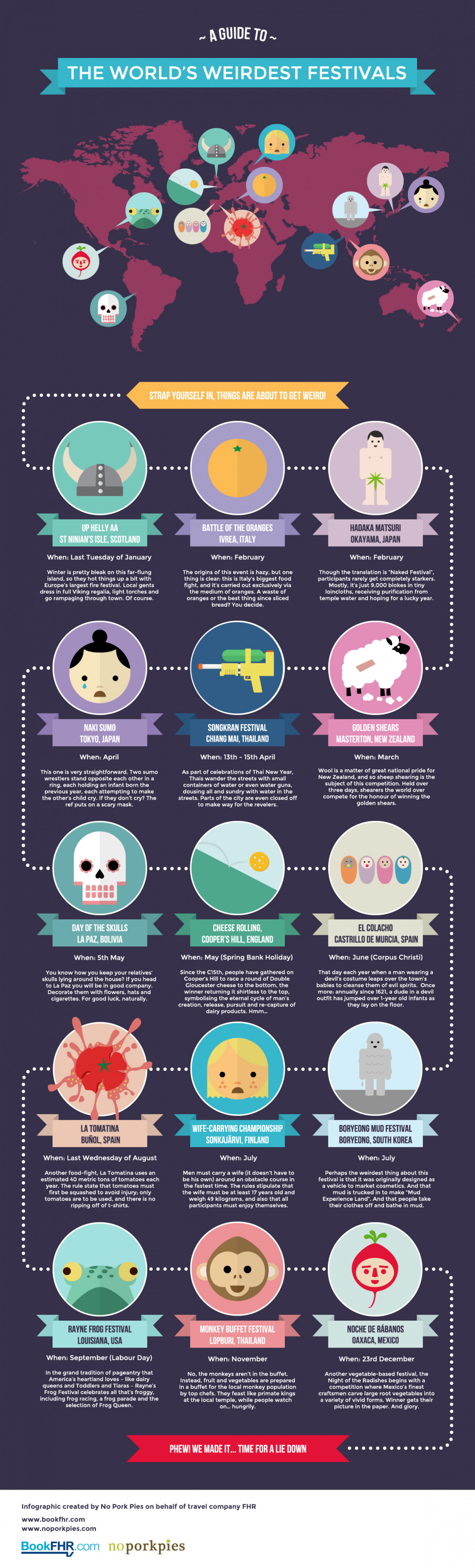 The World's Weirdest Festivals Infographic