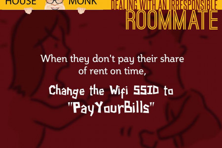 thehousemonk | Dealing with an irresponsible roommate?  Infographic