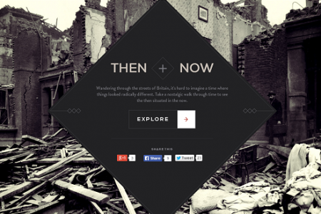 Then & Now -  An interactive journey around WW1 Britain Infographic