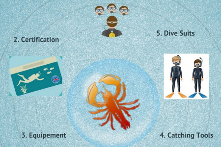Things to be known about Diving for Lobster Hunting Infographic