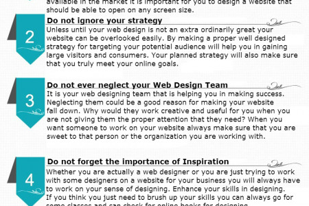 Things to Be Taken Care Of While Designing Your Website Infographic