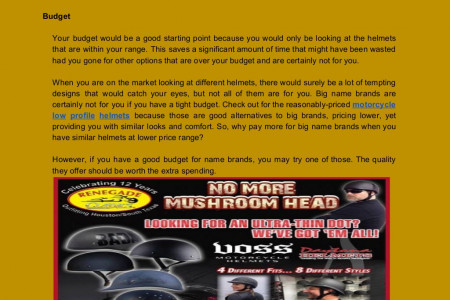 Things to Consider When Buying a Motorcycle Helmet for Yourself Infographic
