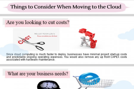 Things to Consider When Moving to the Cloud  Infographic