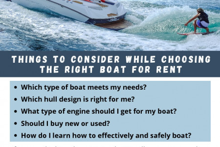 Things To Consider While Choosing the Right Boat For Rent Infographic