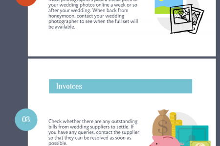 Things To Do After The Wedding Infographic