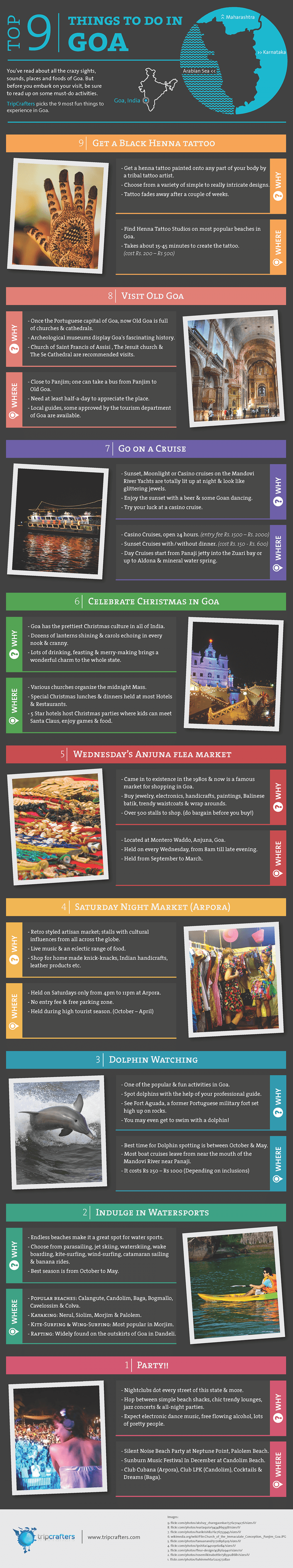 Things to do in Goa Infographic