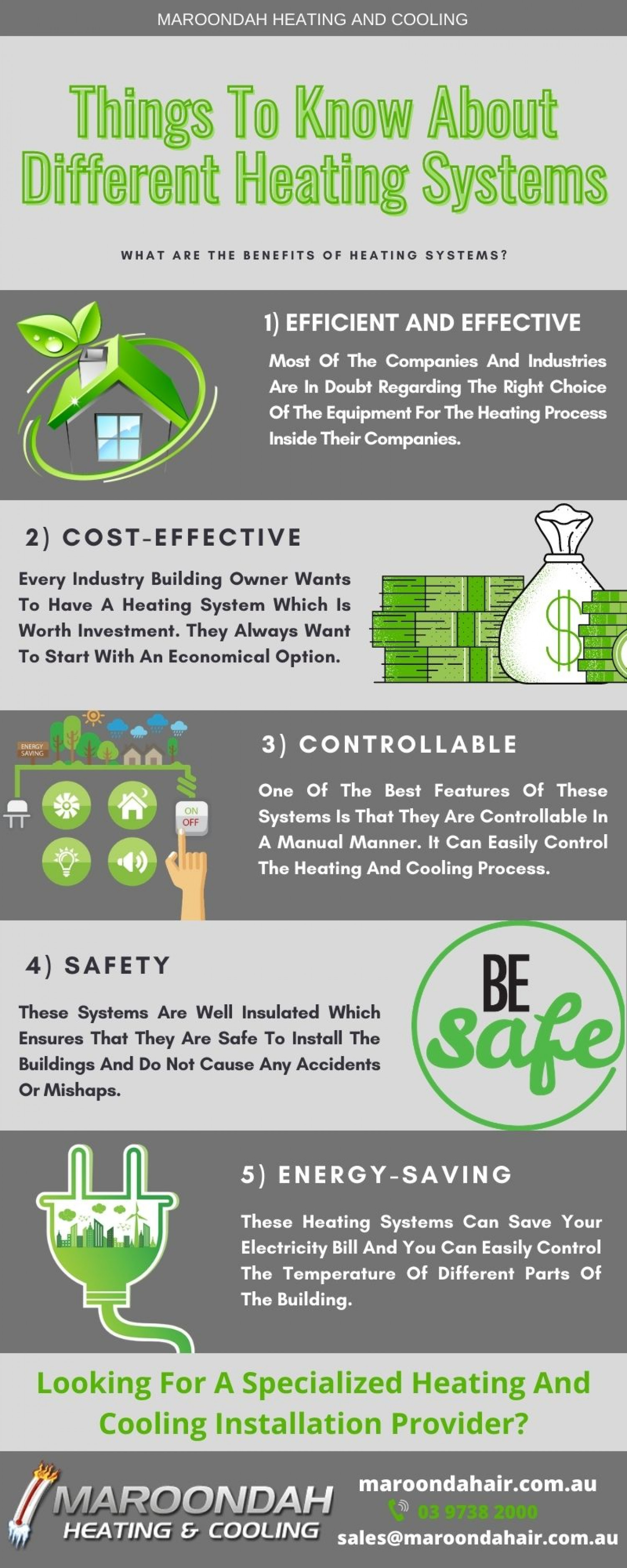Things To Know About Different Heating Systems Infographic