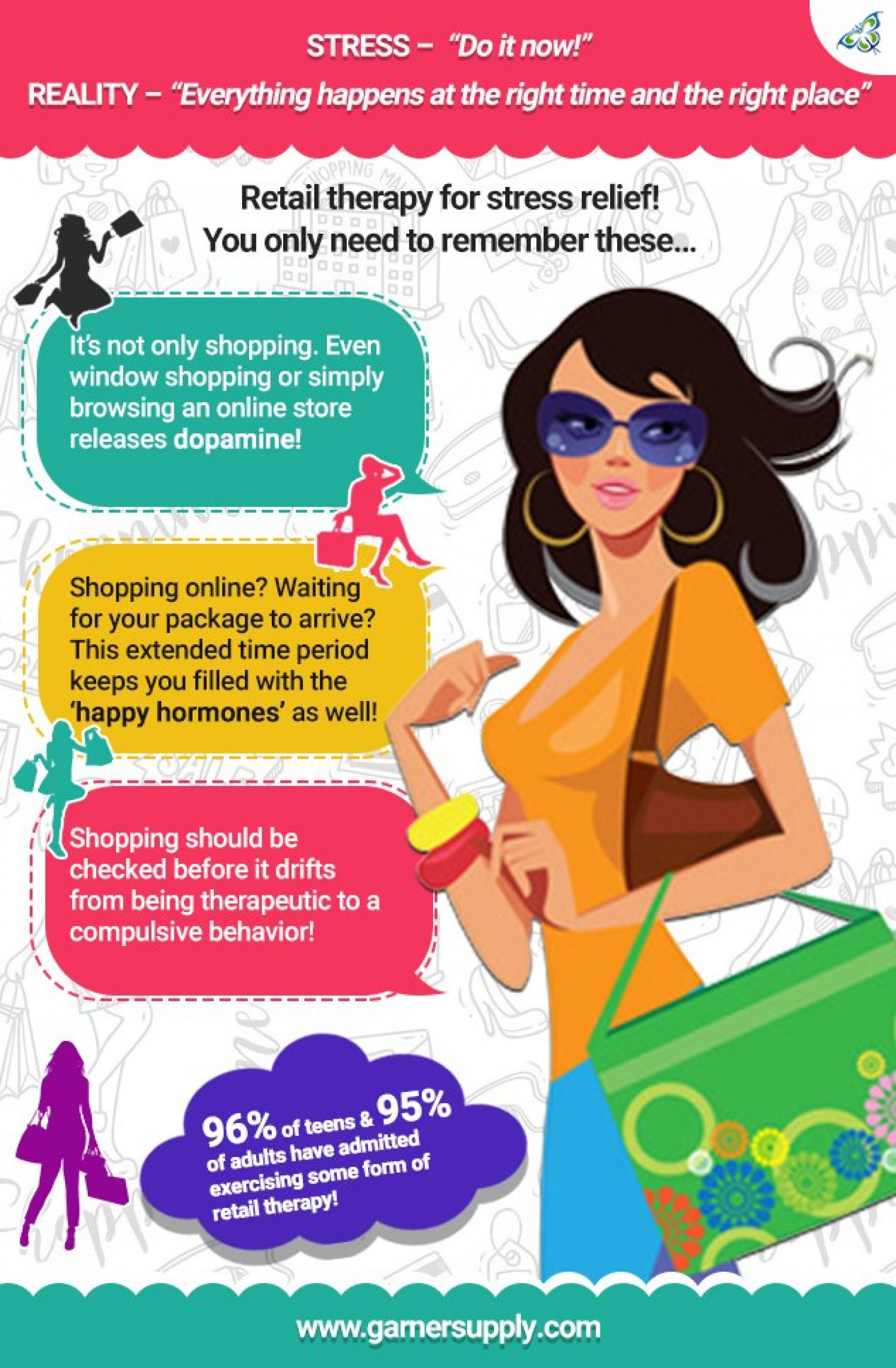 Things to know when you are a shopaholic! Infographic