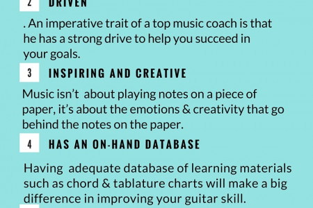 Things to Look For in a Guitar Teacher Infographic