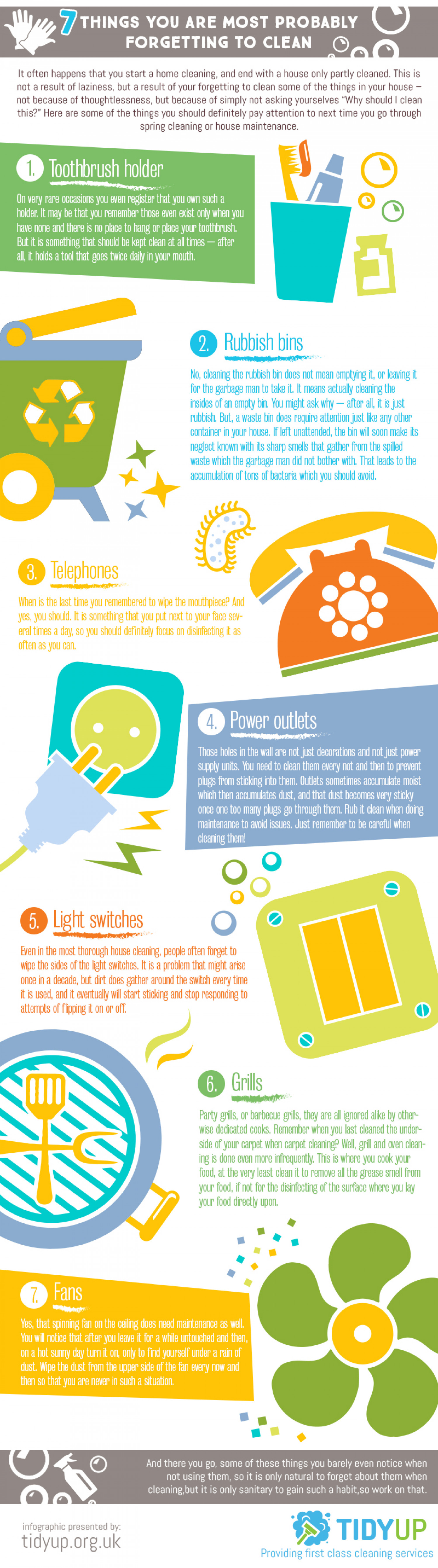 Things You Are Probably Forgetting to Clean Infographic