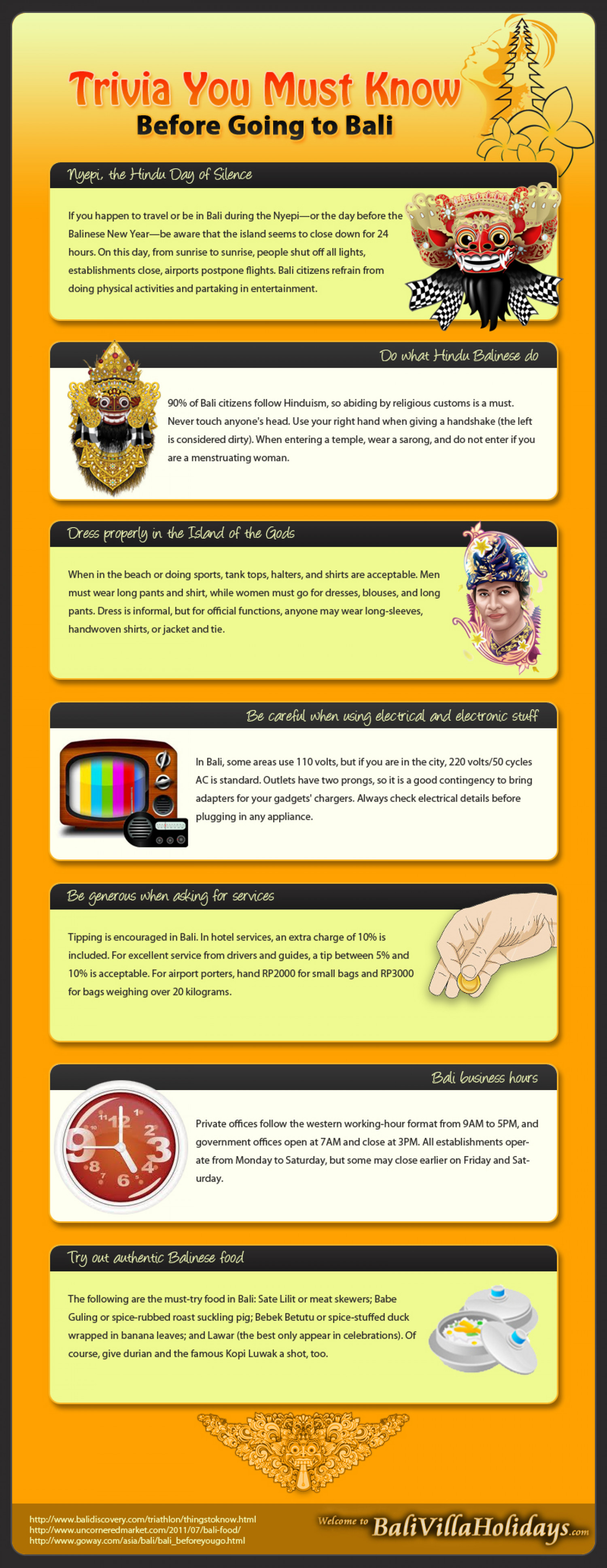 Things You Must Know Before Going to Bali Infographic