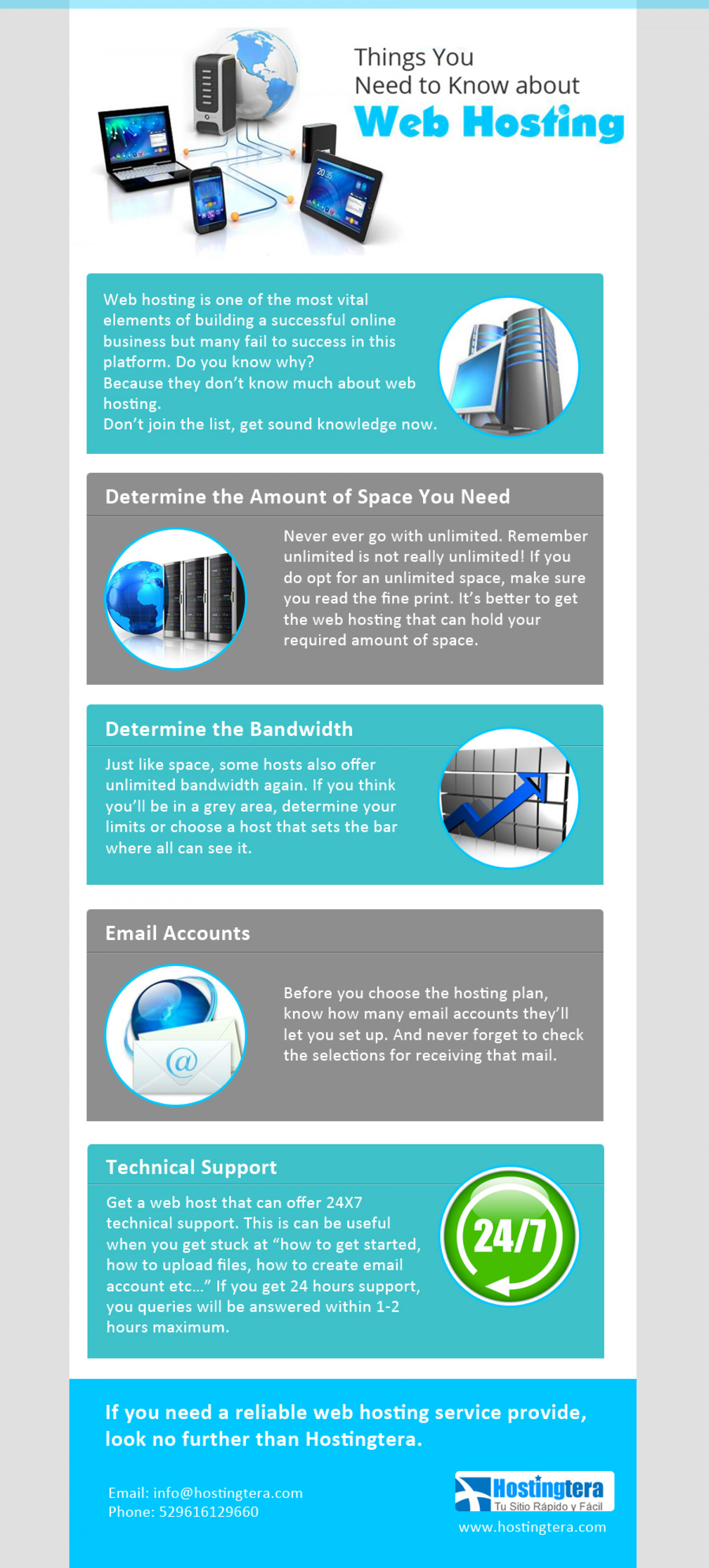 Things You Need to Know about Web Hosting Infographic