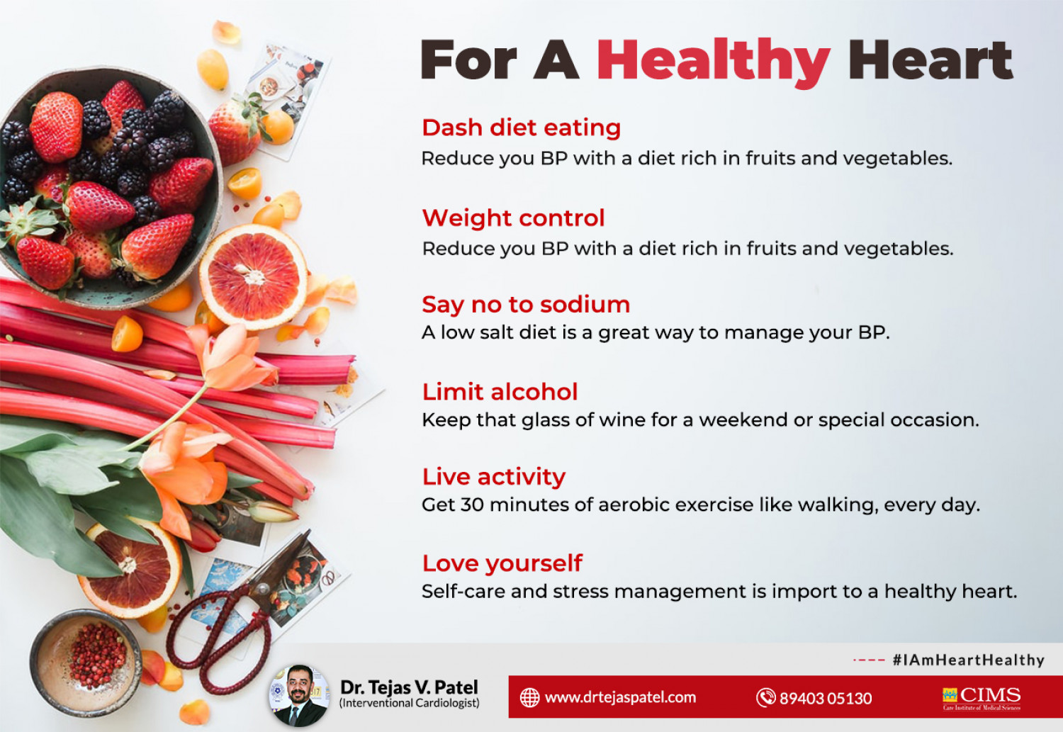 Things you should follow strictly for a Healthy Heart. Infographic
