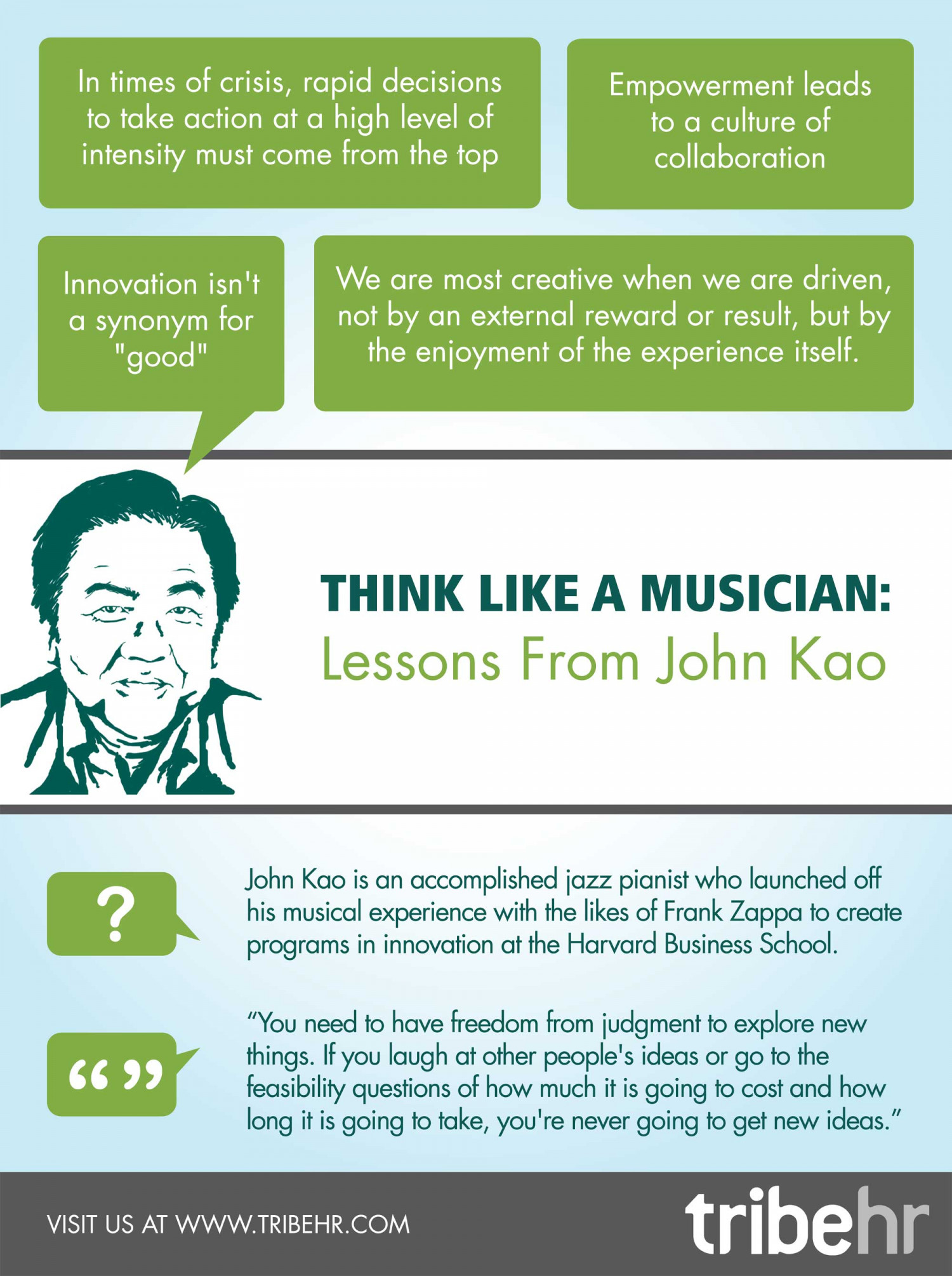 Think Like a Musician: HR Lessons from John Kao Infographic