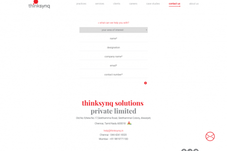thinksynq- Business services and solutions Infographic