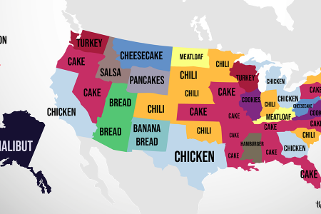 This Map Shows the Most Googled Recipes in the USA Infographic