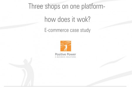 Three shops on one platform? How does it work? E-commerce case study. Infographic