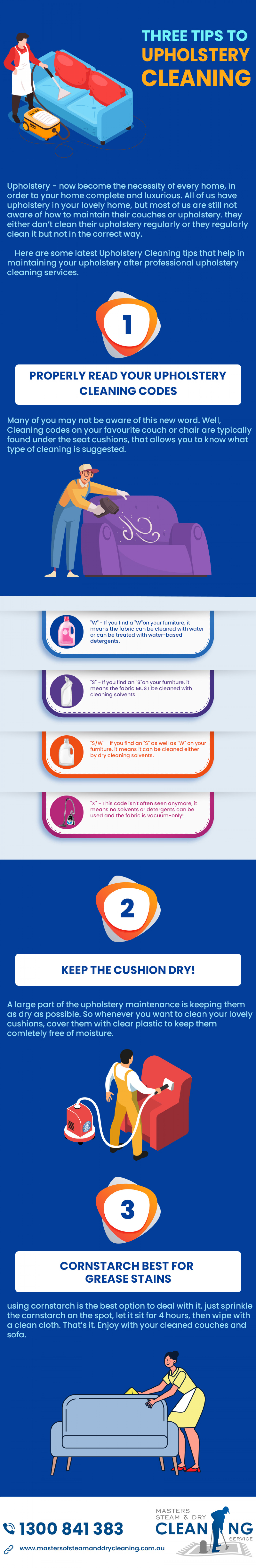 Three Valuable Tips To Upholstery Cleaning Infographic
