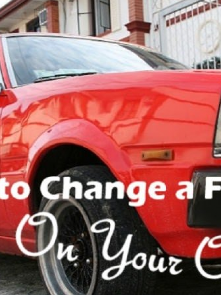 How to Change a Flat Tire by yourself Infographic