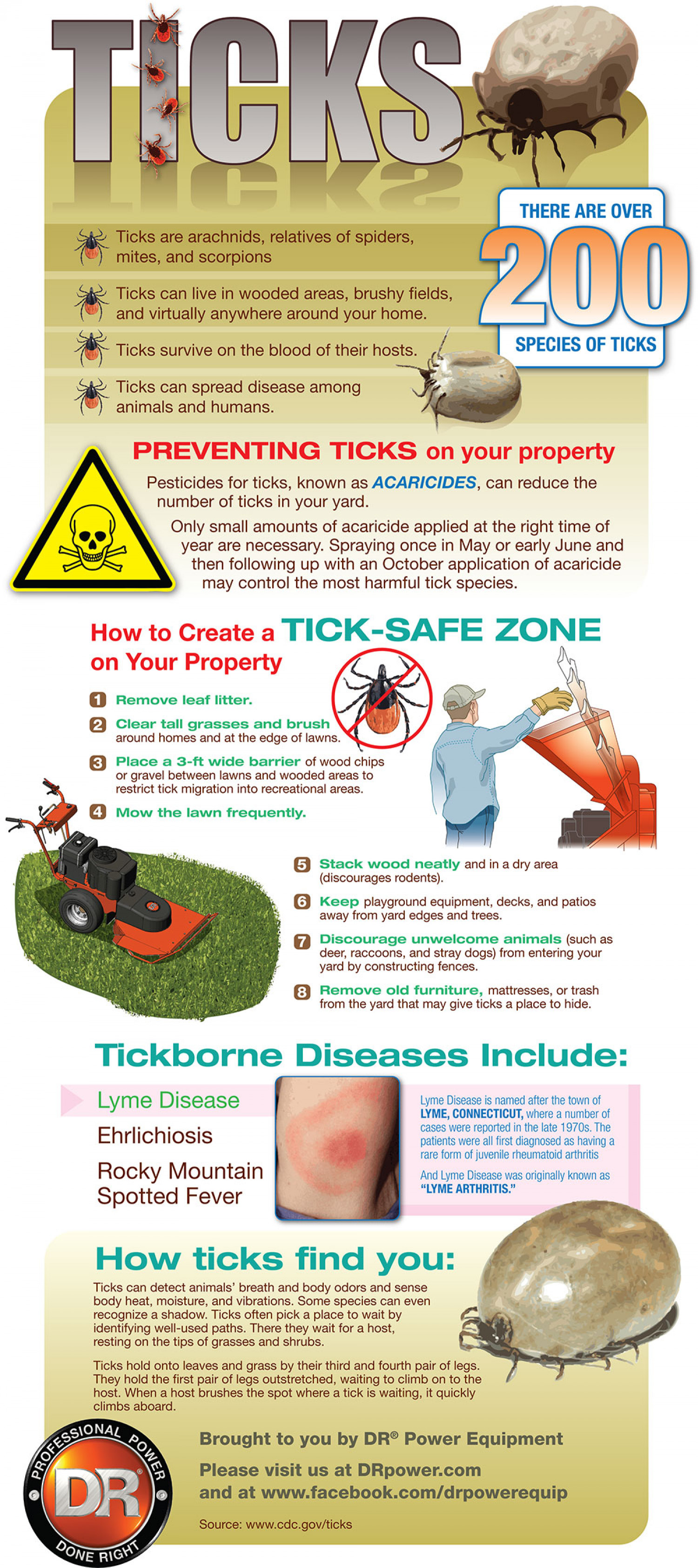 Ticks: How to Protect Your Family Infographic
