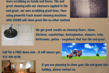 Tile and Grout Cleaning Services from Cyclone Professional Cleaners Infographic