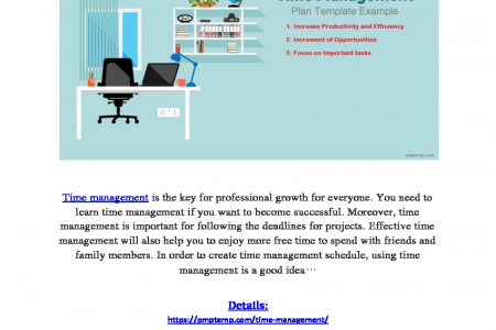 Time Management Plan Template Excel Infographic