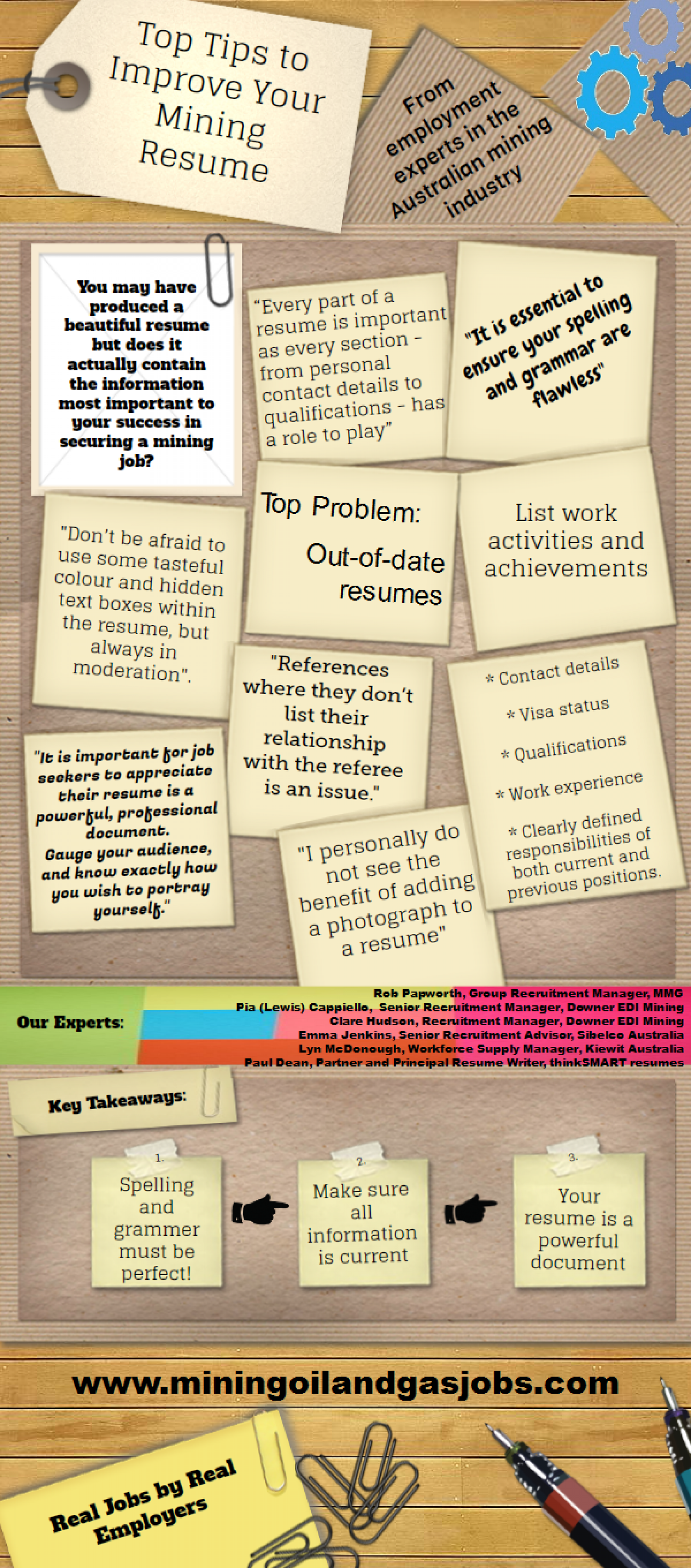 Top Tips to Improve Your Mining Resume Infographic