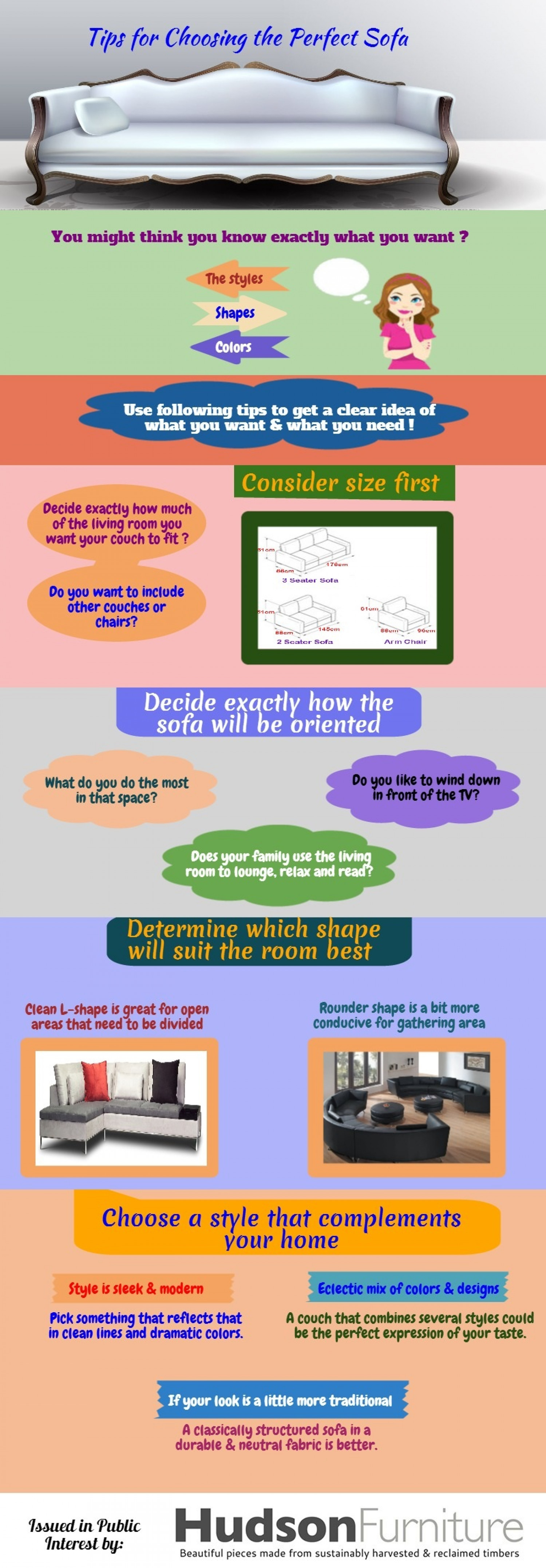 Tips for Choosing the Perfect Sofa Infographic
