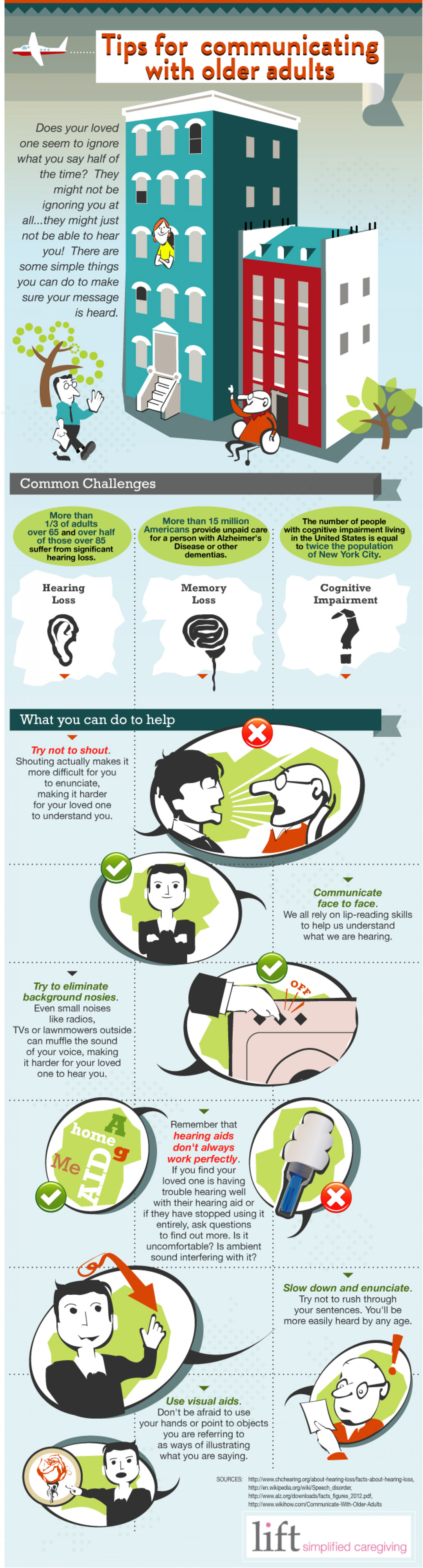 Tips For Communicating With Older Adults Infographic