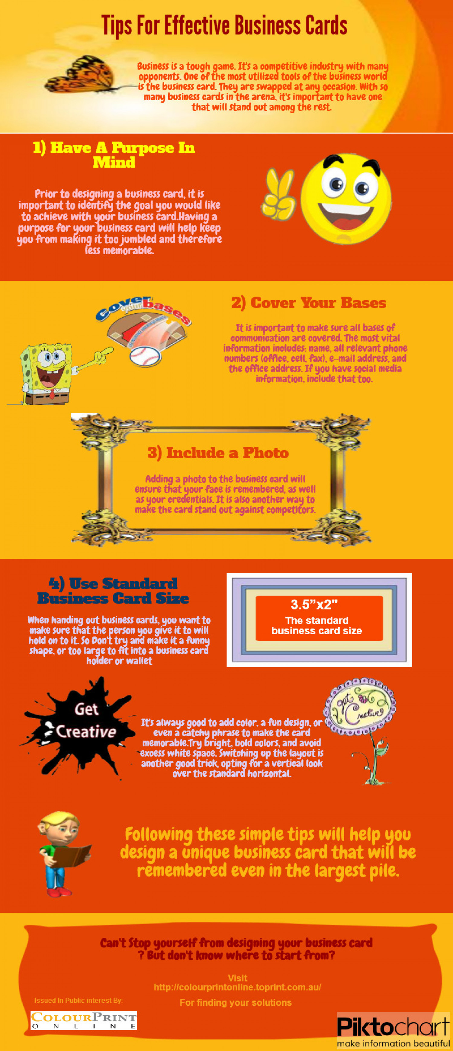 Tips For Effective Business Cards Infographic
