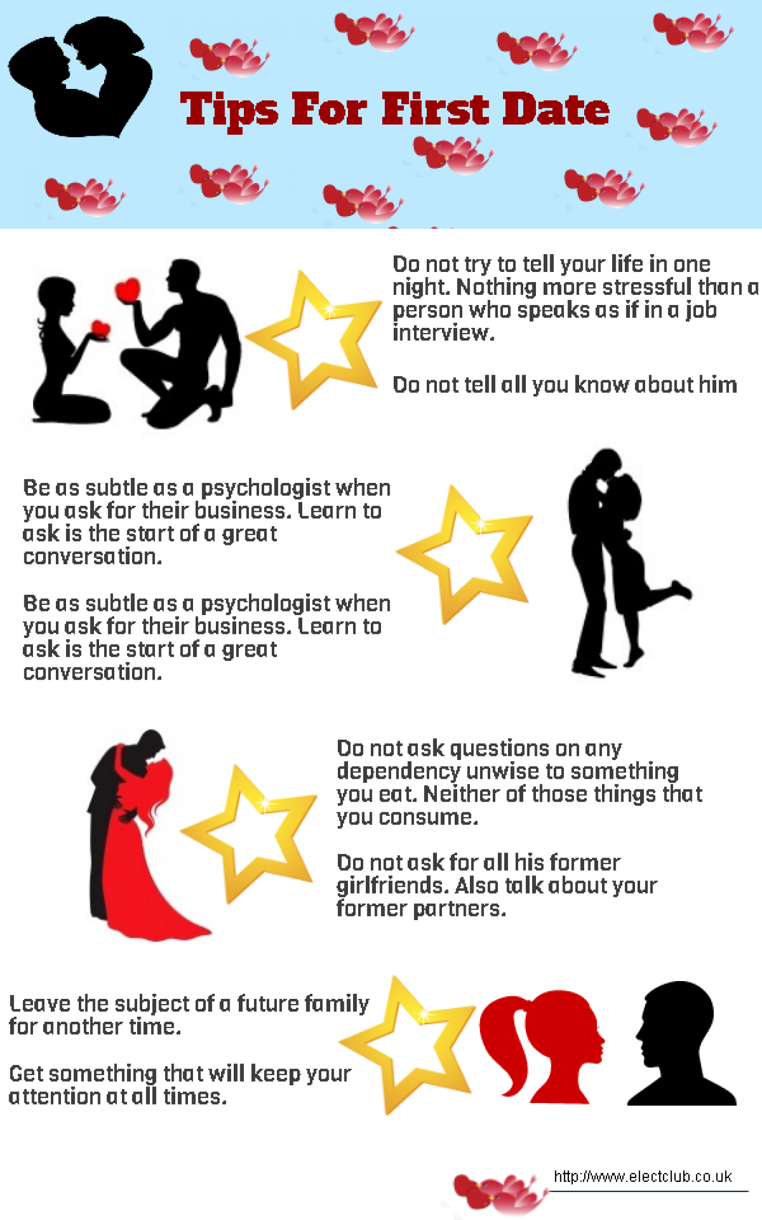 Tips for First Date Infographic