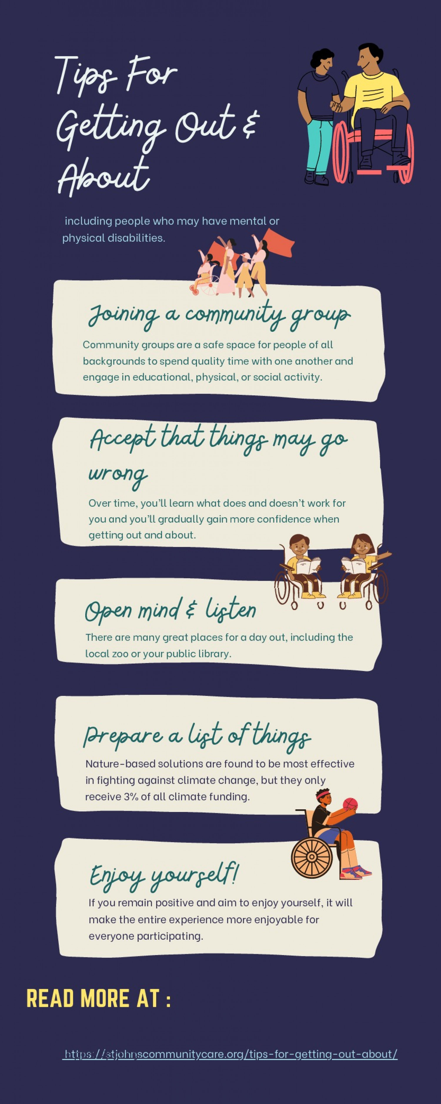 Tips For Getting Out and About Infographic
