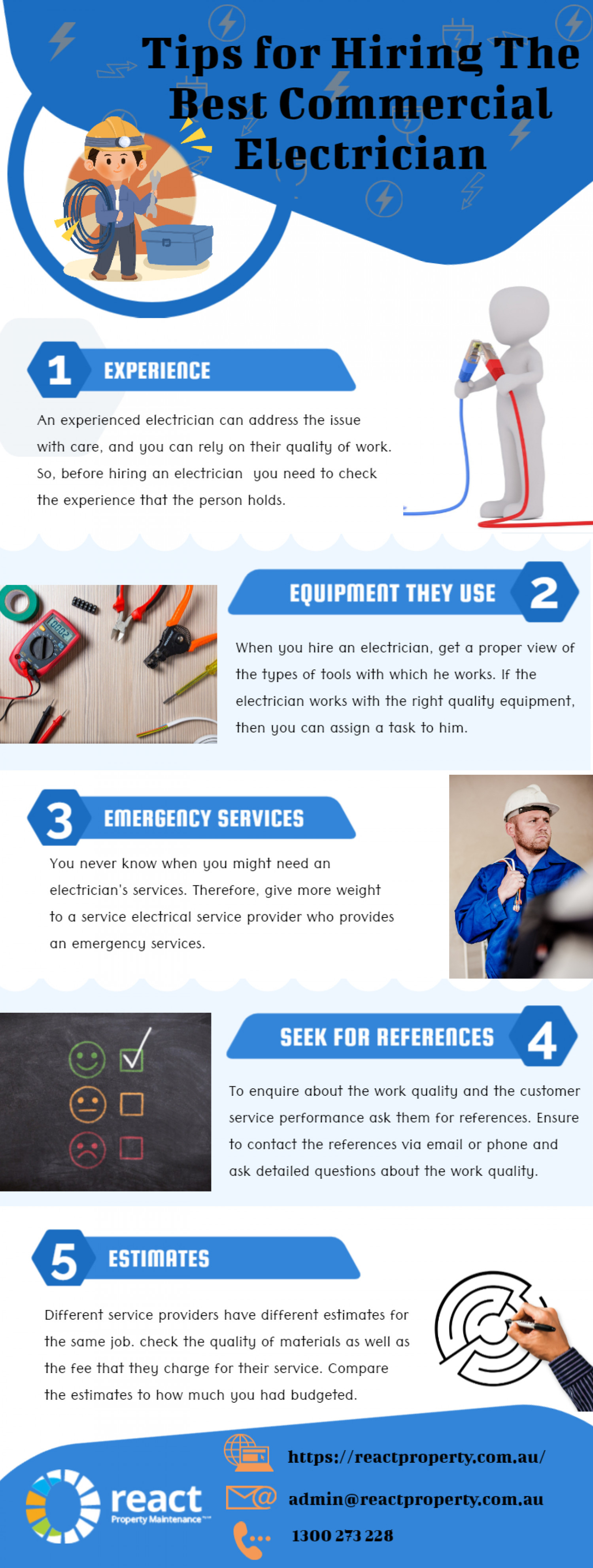 Tips for Hiring The Best Commercial Electrician Infographic