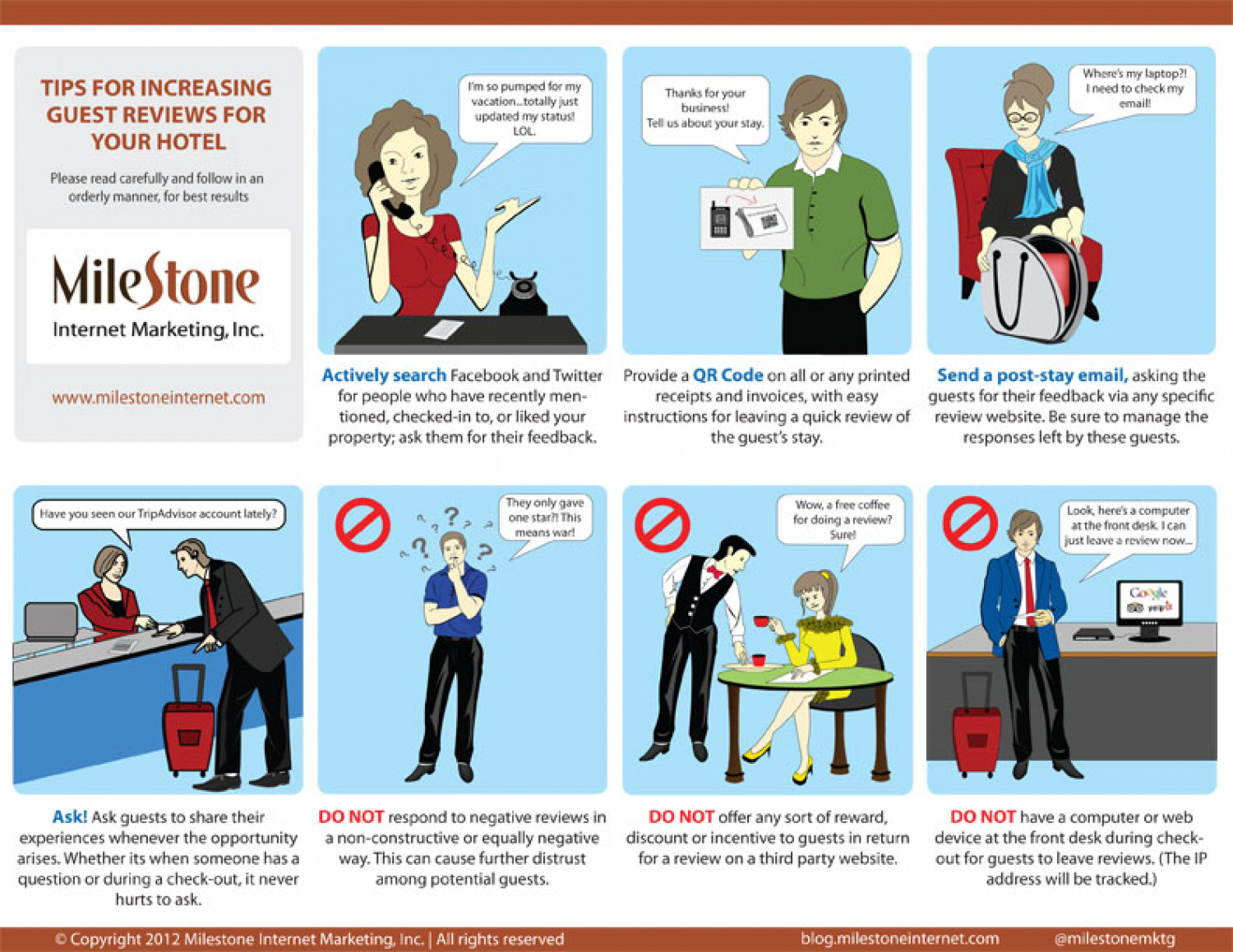 Tips for Increasing Guest Reviews for Your Hotel Infographic